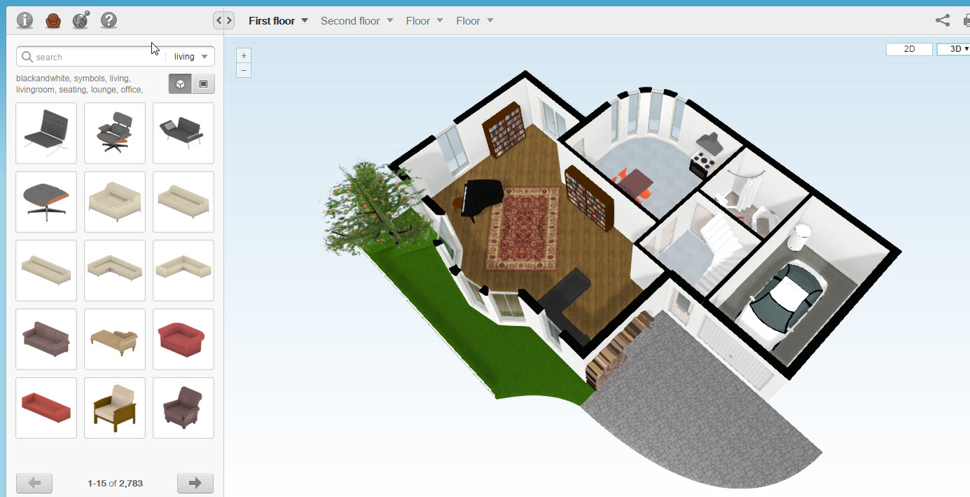 Cool 40 online floorplanner decorating design of best for Online floor plan tool